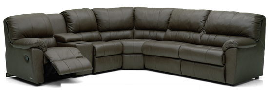 Melrose Reclining True Sectional Leather Sleeper Sofa by Palliser