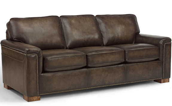 The State Street Leather Sofa