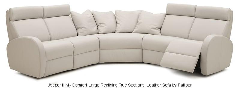 Jasper II My Comfort Large Reclining True Sectional Leather Sofa by Palliser