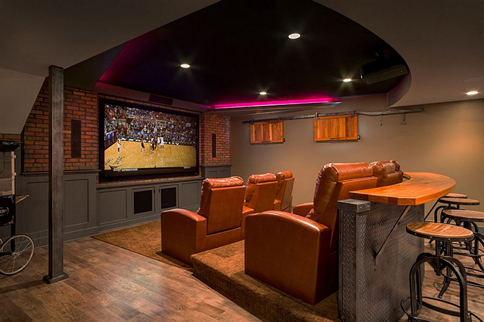 Leather Reclining Home Theater
