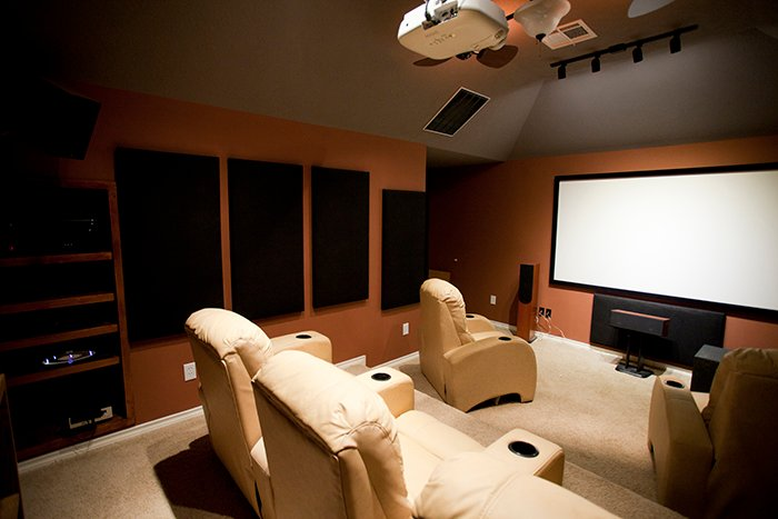 Reclining Leather Home Theater