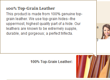 The Highest Quality 100% Top-Grain Leather Hides