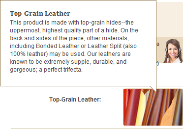 Top Grain Aniline Dyed Leather where you site