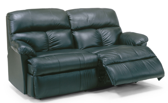 The Triton Reclining Leather Studio Sofa