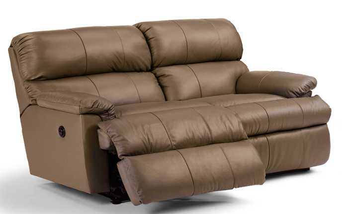 The Chicago Reclining Leather Loveseat
