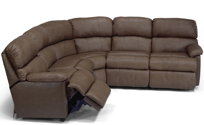 The Chicago Reclining Leather True Sectional