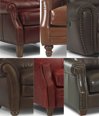 Leather with Nailheads