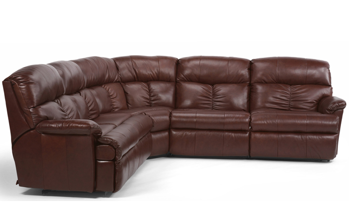 The Triton Reclining Leather True Sectional