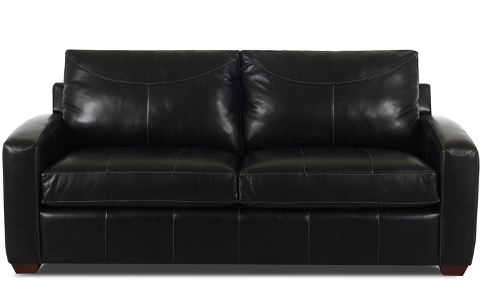 Boulder Queen Leather Sleeper in Durango Black