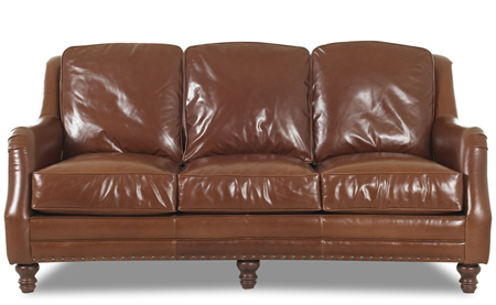 The Vail Leather Sofa by Klaussner