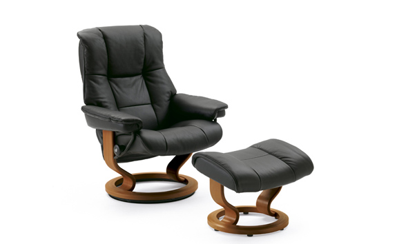 The Mayfair Recliner and Ottoman by Stressless