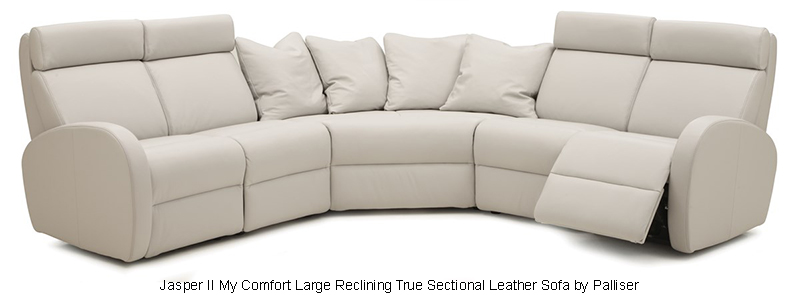 Jasper II My Comfort Large Reclining True Sectional Leather Sofa by Palliser